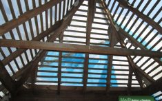 Timber apex roof structure