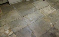 stone slab basement floor