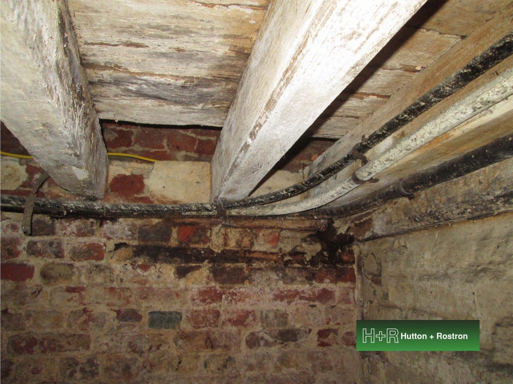 Basement timber beams