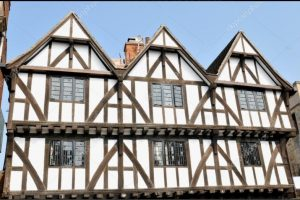 timber survey - image of the outside of a timber framed house