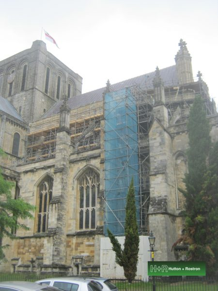 Scaffolding at Winchester Cathedral