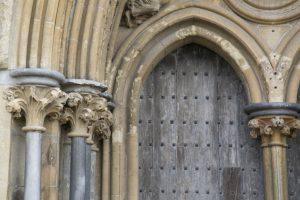 Old gothic church door